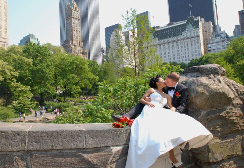 Bröllop gifta sig i New-York