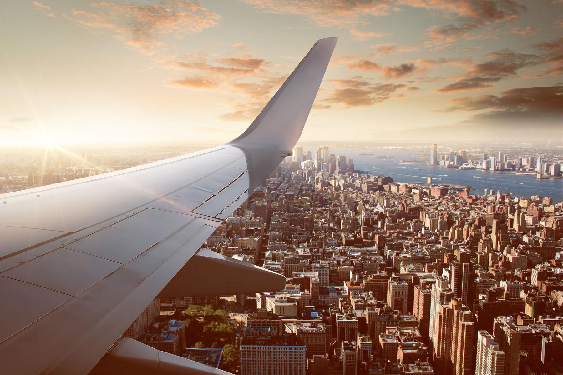 Landning i New York