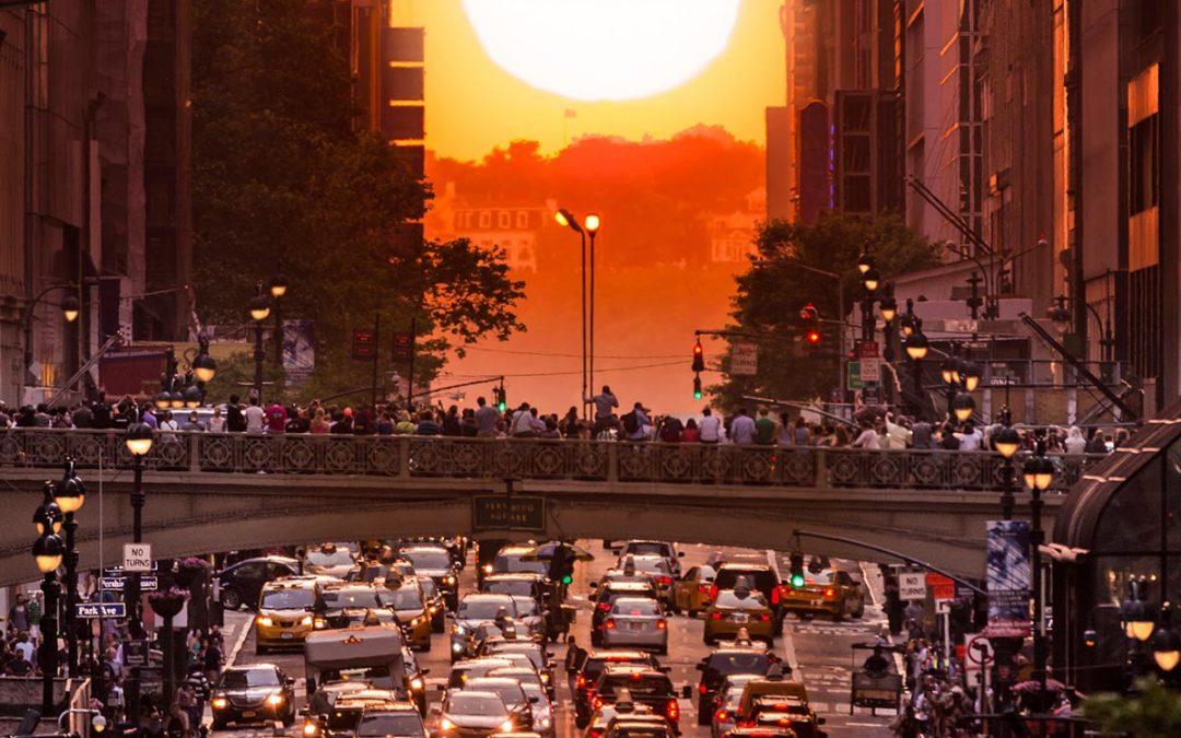 Manhattanhenge – spektakulär solnedgång i New York