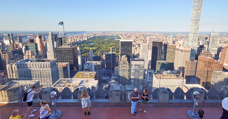 Top of the Rock - bästa utsikten i New York