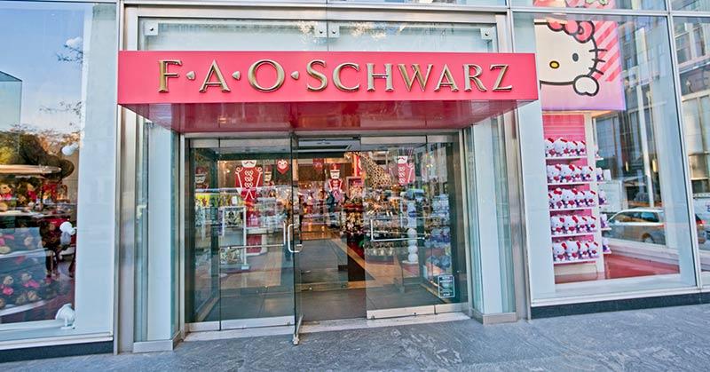 FAO Schwarz - klassisk leksaksbutik i New York