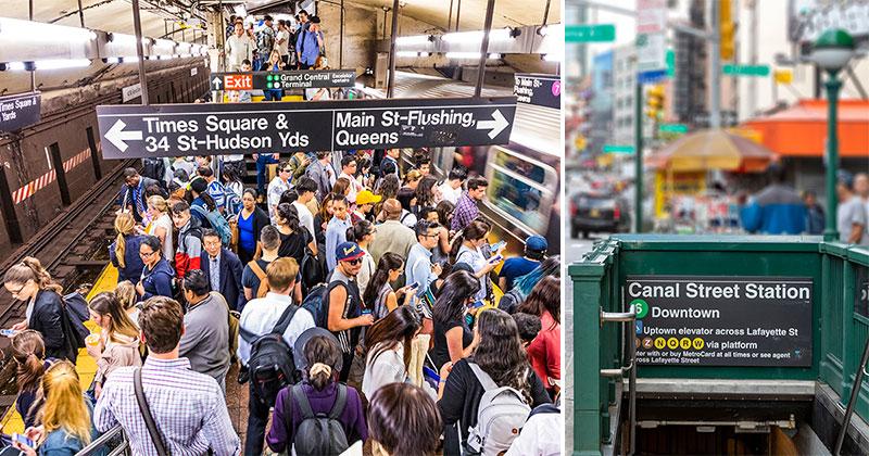 Tunnelbana taxi och bussar i New York - kollektivtrafik i NYC