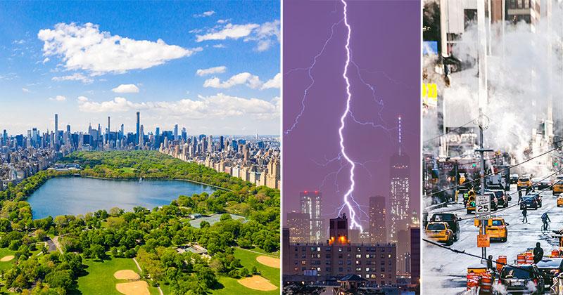 Väder New York - temperatur per månad